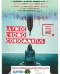 Conférence : La fin de homo consommatus