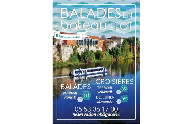 Promenade découverte avec Les Croisières du Lot 1 - Villeneuve-sur-Lot