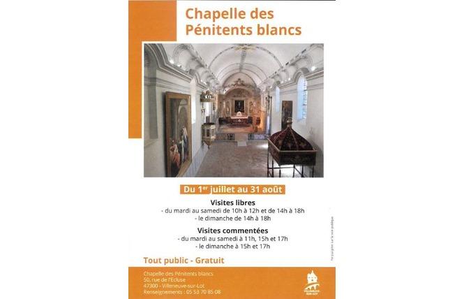 Visites commentées de la chapelle des Pénitents blancs 1 - Villeneuve-sur-Lot